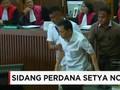 VIDEO: Setya Novanto Bergeming di Sidang Perdana