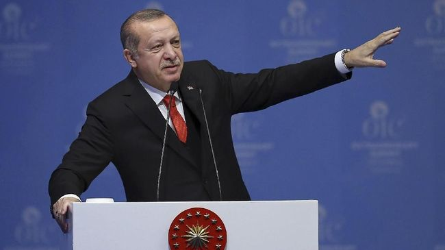Presiden Turki Recep Tayyip Erdogan menyebut selain negara Barat, sejumlah negara Arab turut membiarkan Israel bersikap brutal terhadap Palestina.