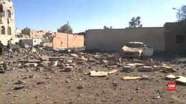 VIDEO: Serangan Udara Saudi Hantam Kantor Polisi, 35 Tewas