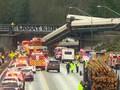 VIDEO:  Kecelakaan Kereta Amtrak, 3 Tewas, Puluhan Luka-luka