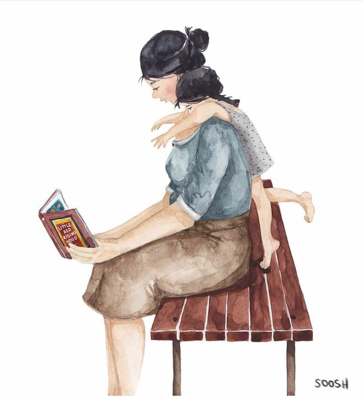Sekarang kita mungkin sudah jadi ibu-ibu. Tapi ilustrasi-ilustrasi tentang Bunda ini menyentuh banget dan bikin kangen masa kecil.