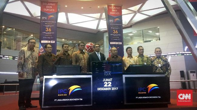 Pada perdagangan perdananya hari ini, Jumat (22/12), harga saham Jasa Armada Indonesia naik 20 poin ke level Rp400 per saham.