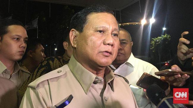 Ketum Gerindra Prabowo Subianto mengaku masih berhubungan baik dengan PKS berpisah jalan selepas Pilpres 2019.