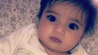 <div>Kombinasi bulu mata lentik dan mata yang bulat bikin si kecil makin cantik. (Foto: Instagram @sweet.b.a.b.y)</div>