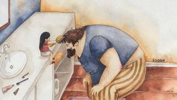Ilustrasi Sosok Ayah Ini Bikin Kita Makin Sayang Sama Suami