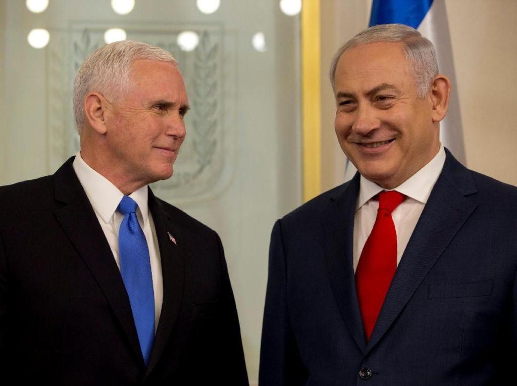 Foto: Senyuman Netanyahu Saat Bertemu Wapres AS di Yerusalem