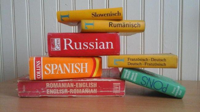 Ilustrasi kamus, berbahasa asing, berbahasa Inggris. (dok. Tessakay/Pixabay)