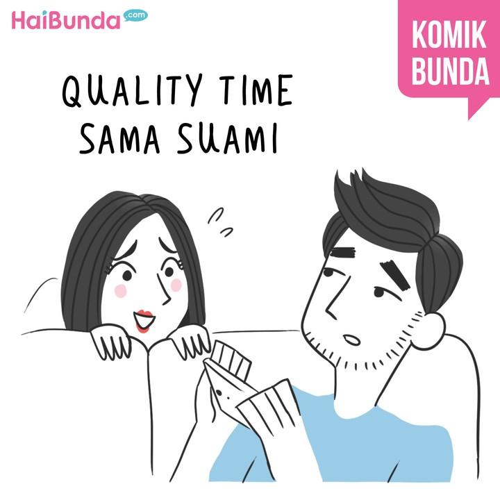 Apa yang Bunda lakukan untuk quality time sama suami? Sama kayak Bunda di komik ini nggak, Bun?