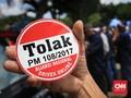 Tolak Permenhub, Sopir Taksi 'Aliando' Demo di Depan Istana