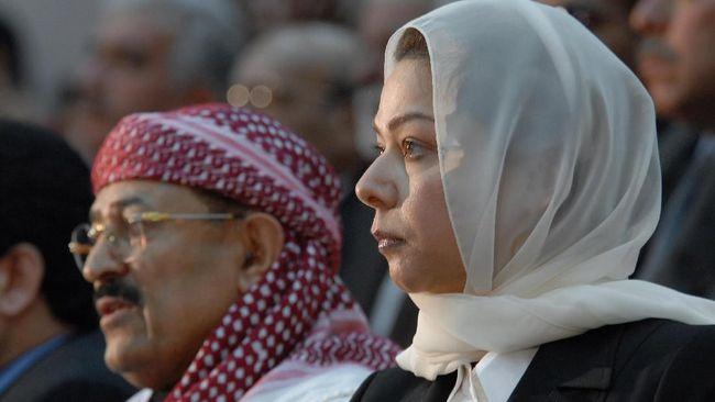 Raghad Saddam Hussein, putri tertua mendiang pemimpin Irak, Saddam Hussein, muncul dalam wawancara televisi membahas politik dalam negeri.