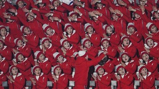 FOTO: Pesona Pemandu Sorak Korut di Olimpiade Pyeongchang