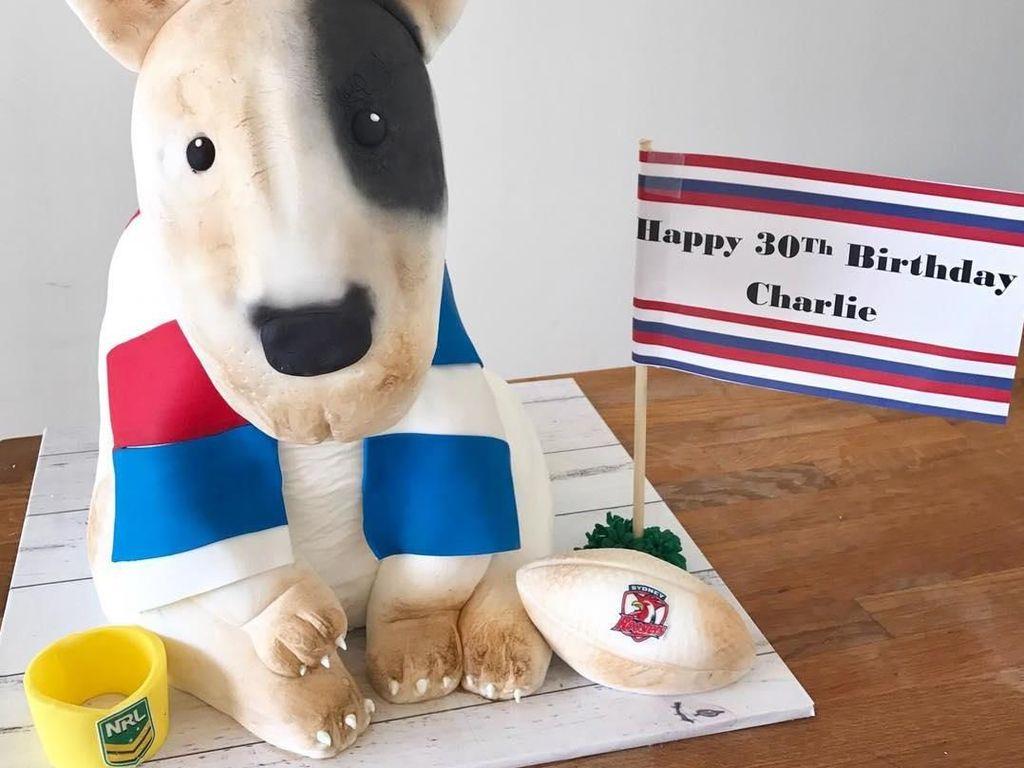 Wah, ini sih lucu banget. Nggak kelihatan kalau ini kue. Malah seperti anjing di film film kartun. Foto: Instagram