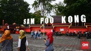 Gubernur Jateng Serukan Toleransi di Kelenteng Sam Poo Kong