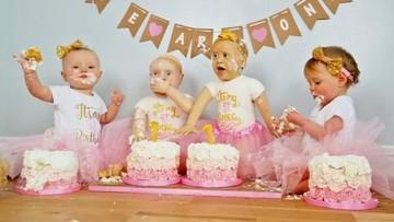 Lihat Deh, Bun, Kue Ultah Bayi Kembar Identik Ini Unik Banget Lho