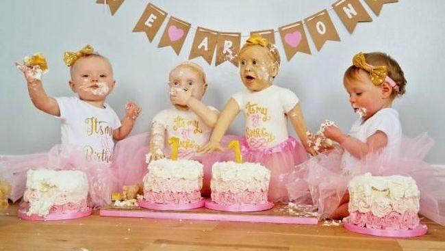Lihat Deh Bun Kue Ultah Bayi Kembar Identik Ini Unik Banget Lho