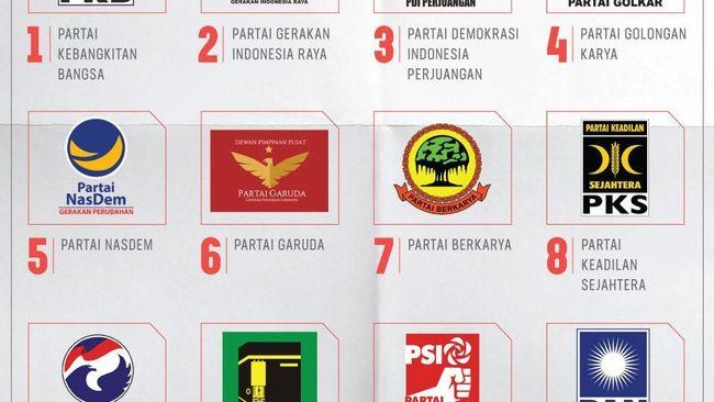 KPU meloloskan 14 partai politik sebagai peserta Pemilu 2019. Masing-masing partai kini telah mengantongi nomor urut peserta.