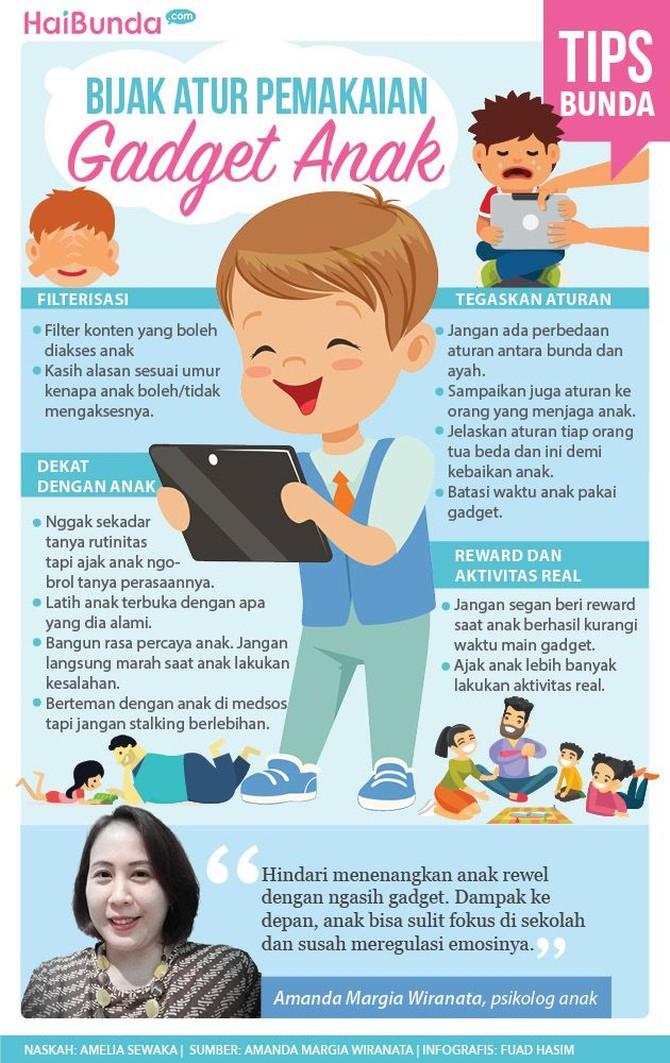 Kalau Bunda dan Ayah hendak mengizinkan anak pakai gadget, jangan lupa terapkan panduan berikut ini ya.