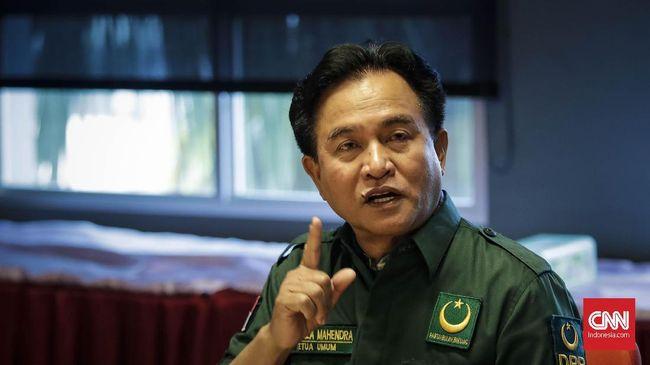 Yusril merespons pernyataan Rachland yang mengungkit bantuan Demokrat untuk mengusung anaknya Yuri Kemal Fadlullah di Pilkada Belitung Timur.