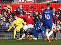 Manchester United vs Chelsea Sama Kuat di Babak Pertama