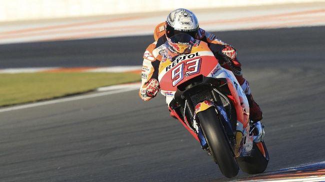 Pebalap Repsol honda Marc Marquez datang ke MotoGP Amerika Serikat 2018 di Sirkuit Austin diiringi perseteruan dengan Valentino Rossi.