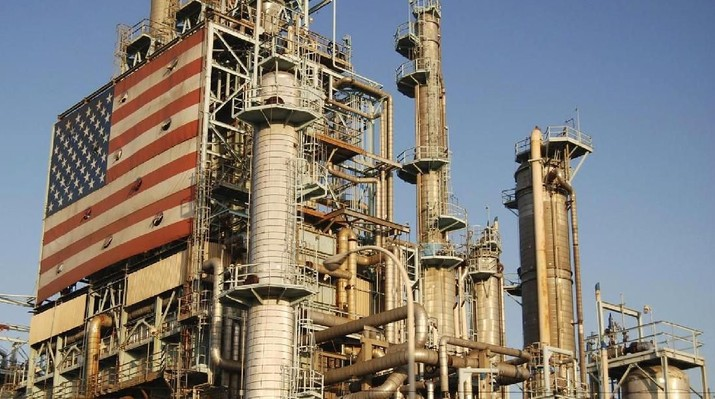 Penambangan minyak mentah di AS