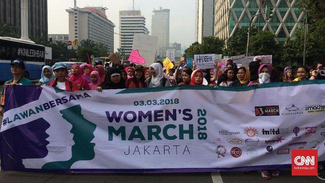 Women's March digelar memperingati Hari Perempuan Internasional yang jatuh pada 8 Maret. Aksi kali ini menyuarakan berbagai isu keperempuanan di Indonesia.