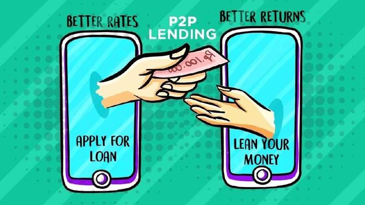 Bak Rentenir, Pinjam di Fintech Lending Kena Bunga 1% Sehari