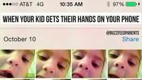 <p>Saat anak diberikan izin untuk mengambil alih kamera ponsel kita, Bun. (Foto: Instagram @buzzfeedparents)<br /><br /></p>