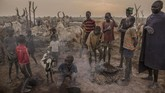 Ketika musim kering, para gembala dari suku Dinka di Sudan Selatan menggiring ternak ke pinggir Sungai Nil. Dengan sekuat raga mereka menjaga ternak tersebut.