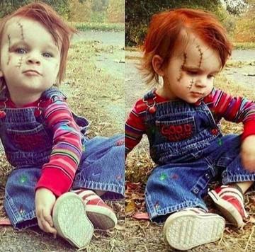 Saat Anak Anak Berdandan Ala Boneka Chucky Seram Atau Lucu Bun Foto 1