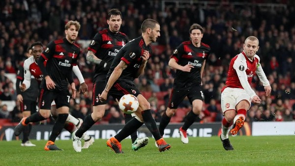 Arsenal Singkirkan Milan