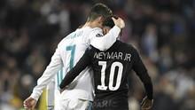 Neymar Kirim Kode ke Ronaldo untuk Gabung PSG