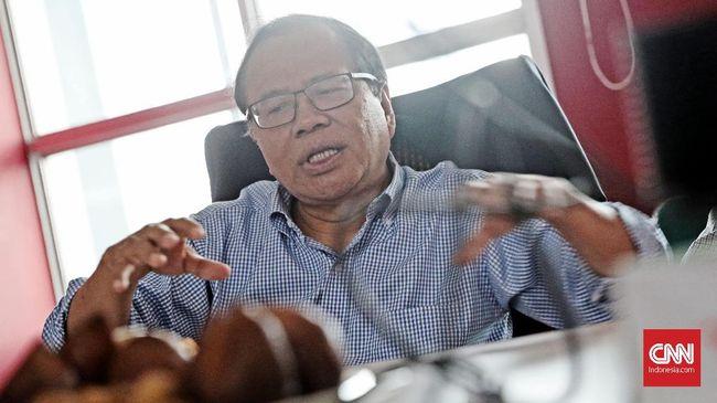Hari ini, mantan Menko Kemaritiman Rizal Ramli menyambangi Balai Kota DKI untuk bertemu Sandiaga yang didampingi M Taufik membahas pilpres 2019.