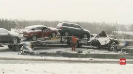 VIDEO: Badai Salju di New York Ribuan Penerbangan Dibatalkan