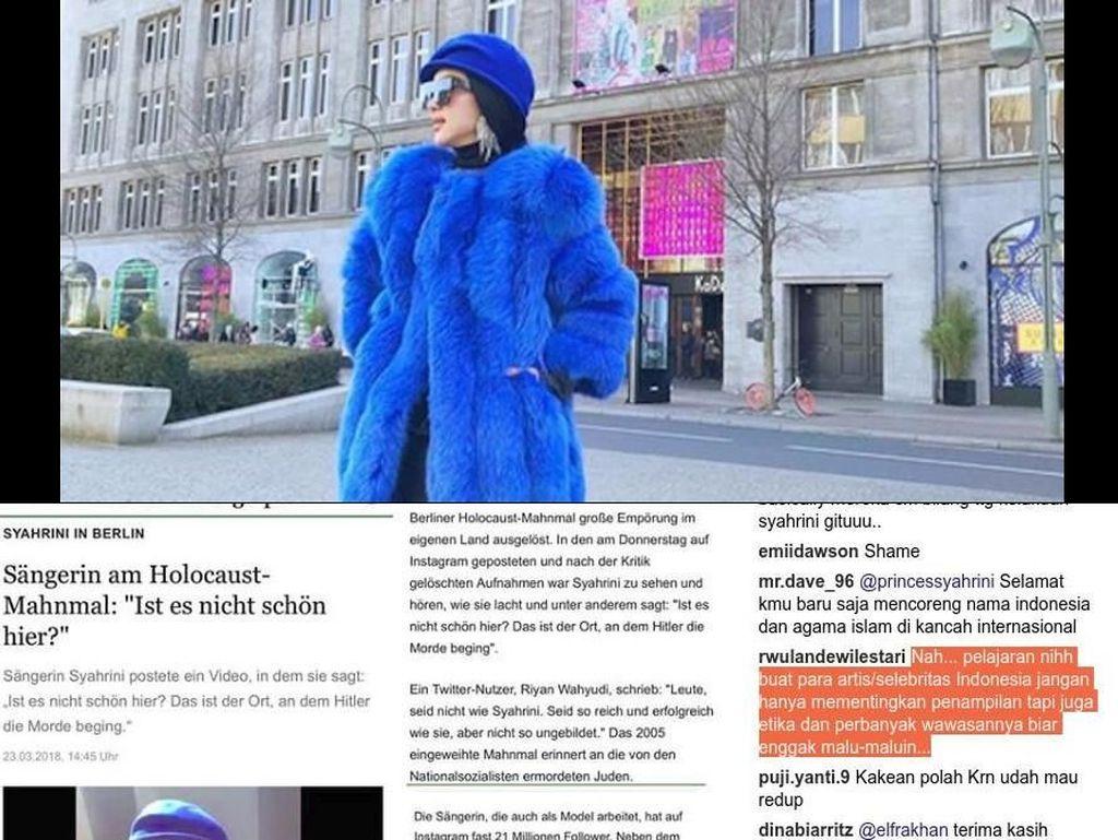 Serangan untuk Syahrini, Percuma Traveling kalau Diendorse Duit Haram