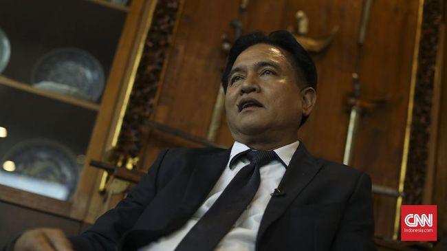 Ketua Tim Hukum Joko Widodo-Ma'ruf Amin, Yusril Ihza Mahendra, mempertanyakan dasar permohonan sengketa pilpres Prabowo Subianto-Sandiaga Uno.