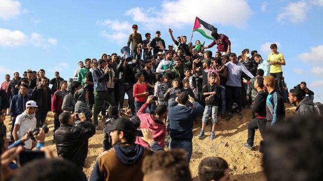 Warga Palestina dan Arab Israel Unjuk Rasa Tentang UU Yahudi