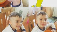 <p>Haircut by daddy! (Foto: Instagram @t_sparks)</p>