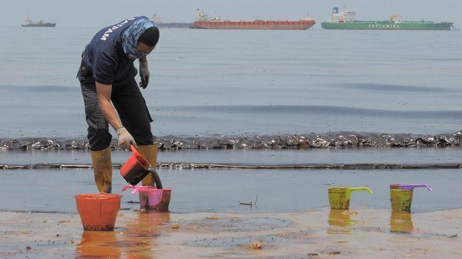 Polisi Periksa 11 Saksi Kasus Tumpahan Minyak di Balikpapan