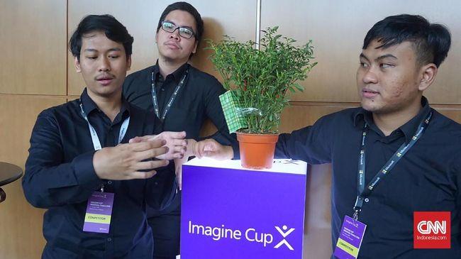 Finalis Imagine Cup 2018 asal Indonesia Tim Taleus mengibaratkan solusi pertanian mereka sebagai dokter pribadi bagi para penggiat industri agrikultural.