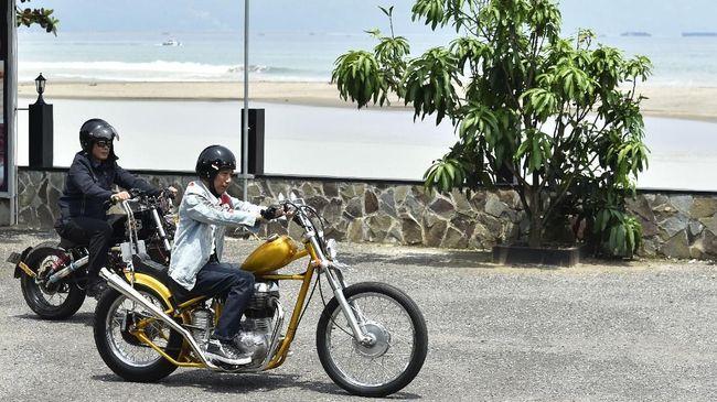 Chopperland adalah motor modifikasi pesanan Jokowi yang sempat dipakai touring ke Sukabumi.