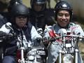 Motor 'Modif' Jokowi dan Gibran Ngeceng di Makassar