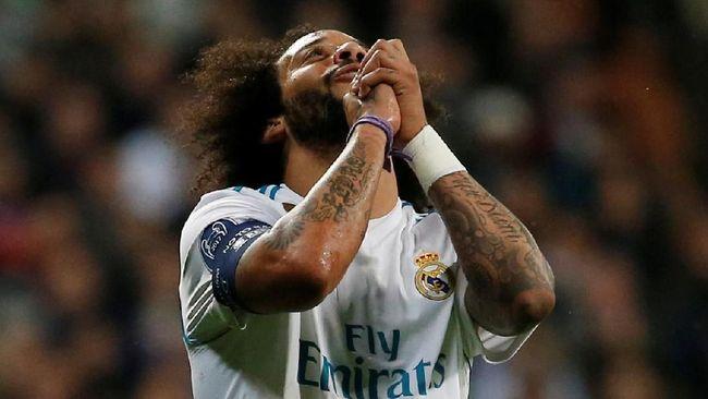 Bek kiri Real Madrid Marcelo menggunakan keberhasilan timnya lolos ke semifinal Liga Champions untuk mengejek Barcelona.