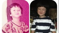 <p>Ternyata Kabay mirip banget sama Ayah Ferry waktu kecil. (Foto: Instagram @deswitamaharani80)</p>