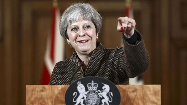 PM Inggris, Theresa May, memenangi pemungutan suara dalam mosi tidak percaya di parlemen Inggris pada Rabu (16/1) malam.