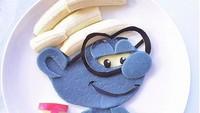 <p>Pancake dan pisang ini bisa jadi tokoh Brainy Smurf. Keren banget! (Foto: Instagram/ @jacobs_food_diaries) </p>