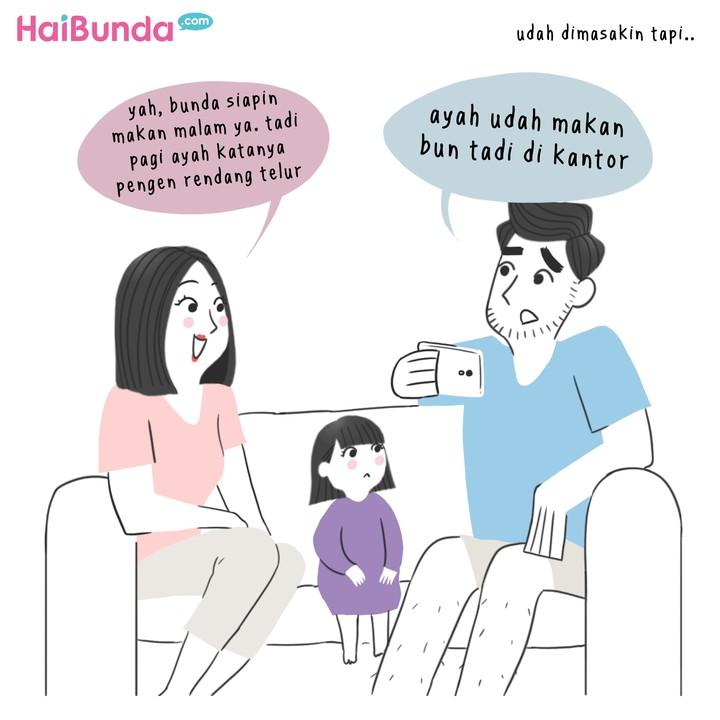 Hal-hal berikut bikin bunda di komik ini kesal sama ayah. Nah, Bunda sendiri paling kesal kalau Ayah kenapa atau ngapain, Bun? Yuk ceritain di kolom komentar.