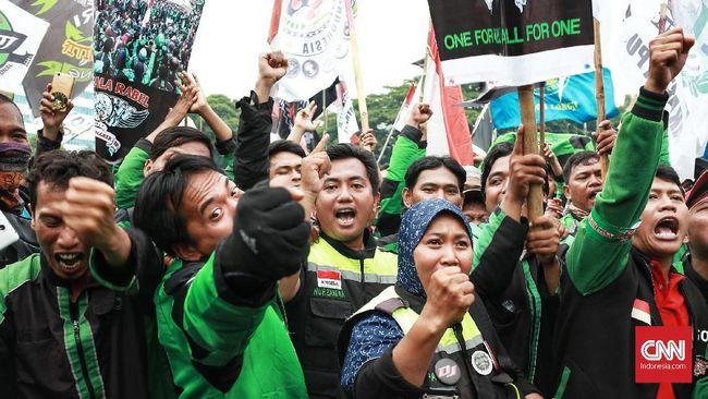 Polri mengimbau komunitas ojek online tidak menggelar demonstrasi saat perhelatan Asian Games demi menjaga kehormatan bangsa di mata negara tetangga.