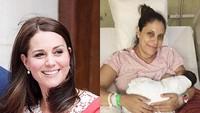 <p>Apa kesamaan dua foto ini? Sama-sama menggendong bayi dan sama-sama sedang mengalami nifas karena belum lama melahirkan bayi. (Foto: Instagram @momofzomax)</p>