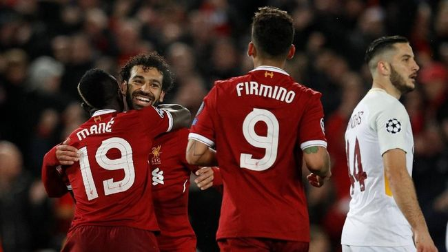 Pertandingan semifinal antara Liverpool dan AS Roma menyamai rekor gol yang dibuat Bayern Munchen dan Sporting Lisbon di babak gugur Liga Champions.